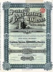 Societe D' Electricite D' Odessa - Brussels, Belgium 1910