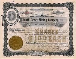 South Dewey Mining Company, Limited (Lion Vignette)  - South Dakota 1903