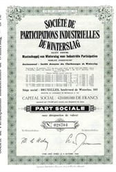 Societe de Participations Industreielles de Winterslag - 1944 Bruxelles