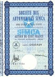 Societe Des Automobiles Simca ( Chrysler logo)  - France 1967