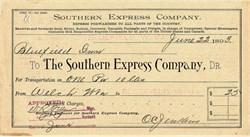 Southern Express Company - 1893