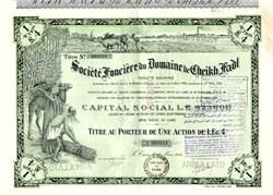 Société Foncière du Domaine de Cheikh Fadl - Egypt 1938