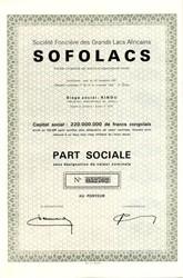 Société Foncière des Grands Lacs Africains Sofolacs - France 1961