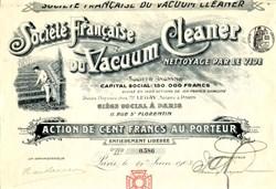 Société Française du Vacuum Cleaner - Paris, France 1903