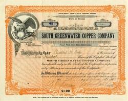 South Greenwater Copper Company - Nevada 1907