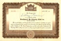 Southward Ho Country Club, Inc.  - Bay Shore, New York 1925