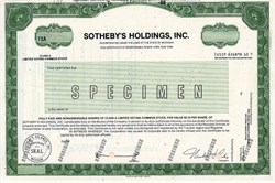 Sotheby's Holdings, Inc. (auctioneer of fine art, antiques and decorative art) - 1988