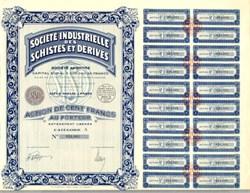 Société Industrielle des Schistes et Dérivés - France 1936