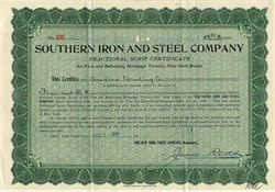 Southern Iron and Steel Company - New York 1909