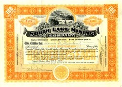 South Lake Mining Company-Michigan-1920