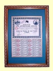 Societe Les Affreteurs Reunis (United Shippers ) Professionally Framed - 1921