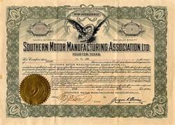 Southern Motor Manufacturing Association, Ltd. ( Ranger Automobile ) -  Houston, Texas 1920
