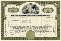 Southern New England Telephone Company (Part of ATT Break up) - Connecticut 1967