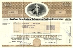 Southern New England Telephone Company (Part of ATT Break up)- Connecticut 1983
