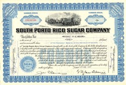 South Porto Rico Sugar Company - New Jersey