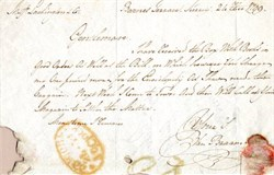 Letter from 1799 - Barnes Terrace - London, England