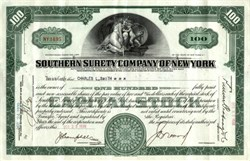 Southern Surety Company of New York (American Banknote Company )  - 1930