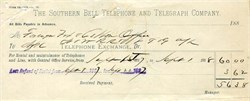Southern Bell Telephone and Telegraph Company 1887