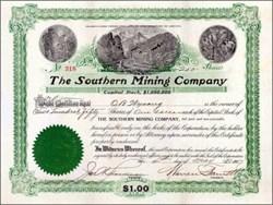 Southern Mining Company 1907 - Territory of Arizona