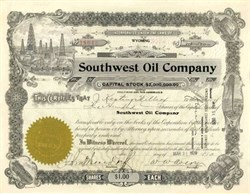 Southwest Oil Company 1920 - Wyoming
