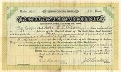 South Salem Land Company 1890 - Salem, Virginia
