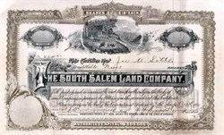 South Salem Land Company 1890 - Salem, Virginia