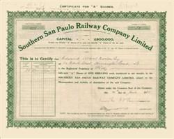 Southern San Paulo Railway Company Limited 1928