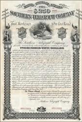 Southern Telegraph Company 1882