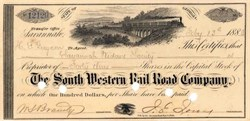 South Western Rail Road Company 1883