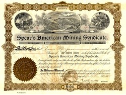 Spear's American Mining Syndicate - Arizona 1903