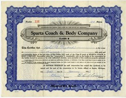 Sparta Coach & Body Company - Sparta, Michigan - 1935