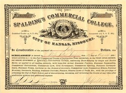 Spaldling's Commercial College, City of Kansas, Missouri - 1890