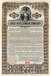 Spice Run Lumber Company 1916 - West Virginia