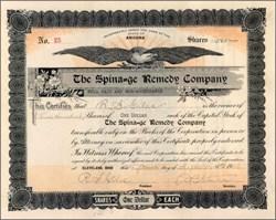 Spina=ge Remedy Company 1906
