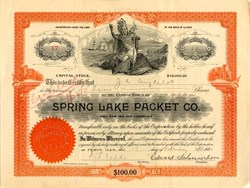Spring Lake Packet Co. - Pekin, Illinois 1900