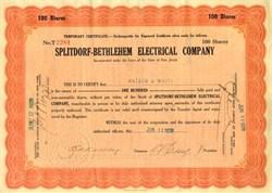 Splitdorf-Bethlehem Electrical Company signed by Splitdorf