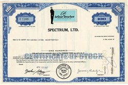 Spectrum, Ltd. (Arthur Treacher Service System ) - New Jersey 1967