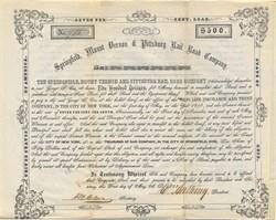 Springfield, Mount Vernon & Pittsburg Rail Road Company - Ohio 1853
