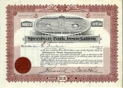 Speedway Park Association - Illinois 1915