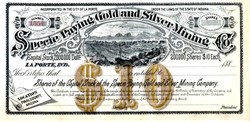 Specie Paying Gold & Silver Mining Company - Pinal County, Arizona - 1880's