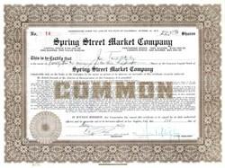 Spring Street Market Company - Los Angeles, California 1929