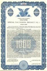 Special Tax School District School Bond County of Dade - Florida 1956
