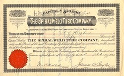 Spiral Weld Tube Company - New Jersey 1890