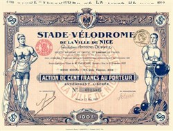 Stade-Velodrome Cyclist and Weightlifter Vignettes - 1927