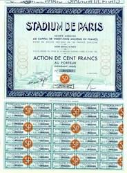 Stadium De Paris Olympic Sports Stadium 1934