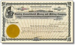 Stanley Consolidated Mining and Milling Company - Washington