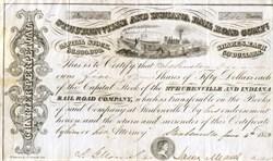 Steubenville and Indiana Rail Road Company - Ohio 1853
