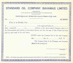 Standard Oil Company ( Bahamas ) Limited