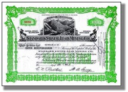 Standard Silver - Lead Mining Company - Washington State