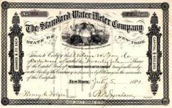 Standard Water Meter Company 1881 - New York
